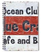 Ocean Club Cafe Spiral Notebook