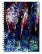 Ocean Dancing Spiral Notebook