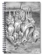 Ocean Fantasy. Huge Shells Spiral Notebook