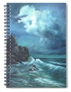 Seascape And Moonlight An Ocean Scene Spiral Notebook