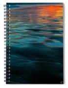 Oceanside Reflective Sunset Spiral Notebook