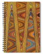Oceanside Surfer Abstract. Spiral Notebook
