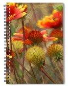 October Flowers 2 Spiral Notebook