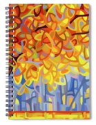 October Gold Spiral Notebook
