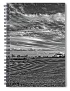 October Patterns Bw Spiral Notebook