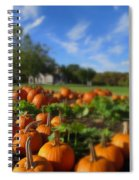 October Postcard  Spiral Notebook