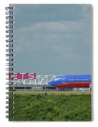 Odd Couple Delta Airlines Southwest Airlines Art Spiral Notebook