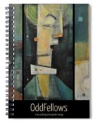 Odd Fellows Triptych Spiral Notebook