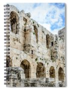 Odeon Stone Wall - Athens Greece Spiral Notebook