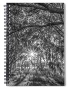 Odessa Sunrise -black And White Spiral Notebook
