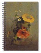 Odilon Redon - Vase With Poppy, Camomile And Bindweed Spiral Notebook