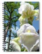 Office Art Giclee Prints White Yellow Iris Flowers Irises Baslee Troutman Spiral Notebook