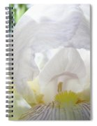 Office Art Irises White Iris Flower Floral Giclee Prints Baslee Troutman Spiral Notebook