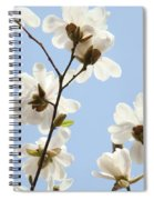 Office Art Prints Blue Sky White Magnolia Flowers 38 Giclee Prints Baslee Troutman Spiral Notebook