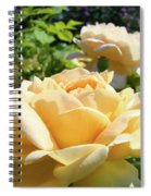 Office Art Prints Rose Peach Orange Rose Flower Baslee Troutman Spiral Notebook