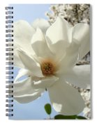 Office Art Prints White Magnolia Flower 66 Blue Sky Giclee Prints Baslee Troutman Spiral Notebook