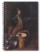 Officer Of The Marksman Society In Leiden Spiral Notebook