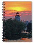 Ogdensburg Lighthouse At Sunset 6695 Spiral Notebook