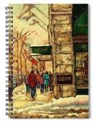 Ogilvys Department Store Downtown Montreal Spiral Notebook