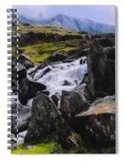 Ogwen Rock Waterfall Spiral Notebook