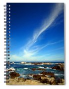 Oh The Beauty  Monterey Peninsula Ca  Spiral Notebook