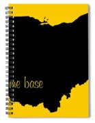 Ohio Is Home Base Black Spiral Notebook