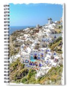 Oia Watercolor Spiral Notebook