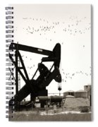 Oil And Birds Spiral Notebook