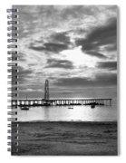 Oil Derrick - Point Loma From Coronado Beach San Diego C.1900 Spiral Notebook