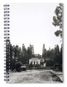 Oil Field Residential Los Angeles C. 1901 Spiral Notebook