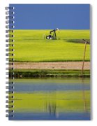 Oil Jack Reflection Saskatchewan Spiral Notebook