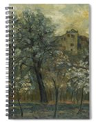 Oil Painting House Tree Spiral Notebook