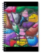 Oil Pastel Abstract Spiral Notebook