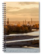 Oil Refinery At Sunset Spiral Notebook