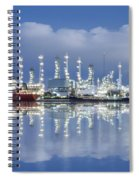 Oil Refinery Industry Plant Spiral Notebook