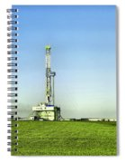 Oil Rig In North Dakota Spiral Notebook