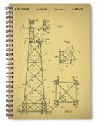 Oil Rig Patent Spiral Notebook