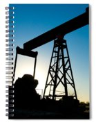 Oil Rig Silhouette Spiral Notebook