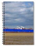 Oil Tanker Ship At Dock Spiral Notebook