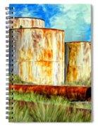 Oil Tanks Spiral Notebook
