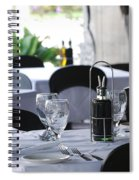 Oils And Glass At Dinner Spiral Notebook