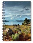 Okanagan Lake In The Spring Spiral Notebook