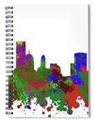 Oklahoma City Skyline Painted Spiral Notebook