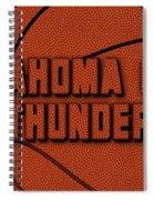 Oklahoma City Thunder Leather Art Spiral Notebook