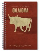 Oklahoma State Facts Minimalist Movie Poster Art Spiral Notebook