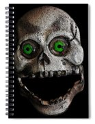 Ol' Wooden Skull Spiral Notebook