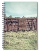 Old Abandoned Box Cars Central Vermont Spiral Notebook