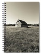 Old Abandoned Farm Building Spiral Notebook
