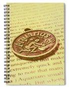 Old Aquarius Astrology Spiral Notebook