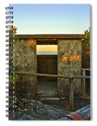 Old Army Lookout In Sunset Hour Spiral Notebook